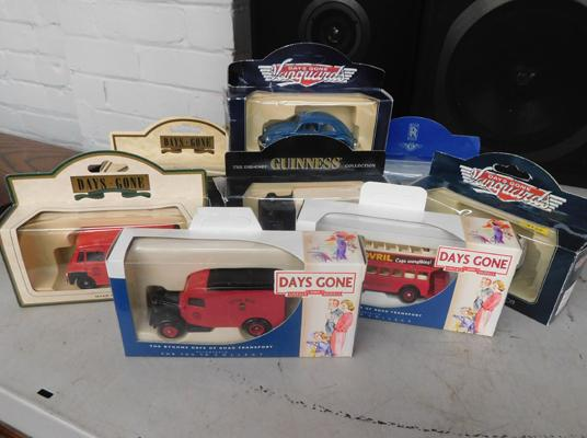 Selection of boxed diecast vehicles