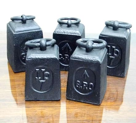 Selection of 5 vintage GPO weights