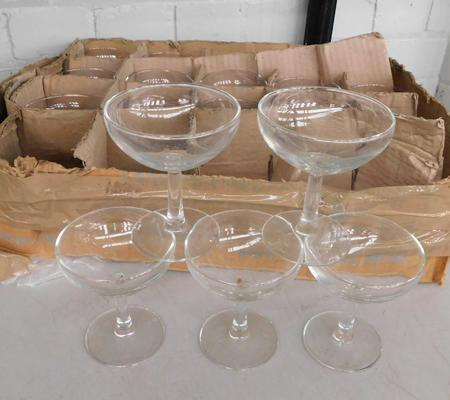 Box of cocktail glasses - vintage