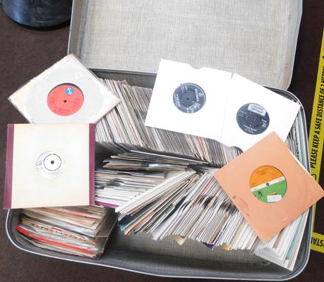 Suitcase of 7 inch singles