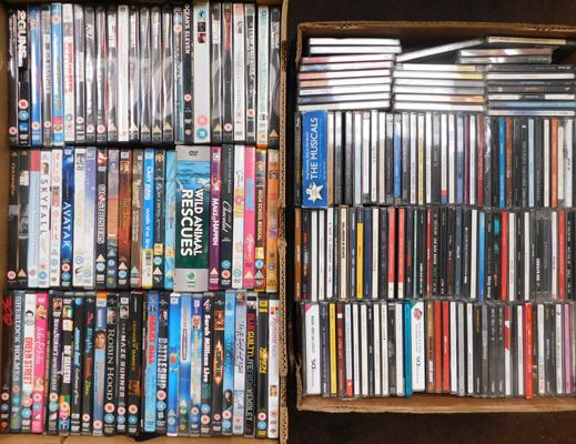 Large collection of DVDs & Cds