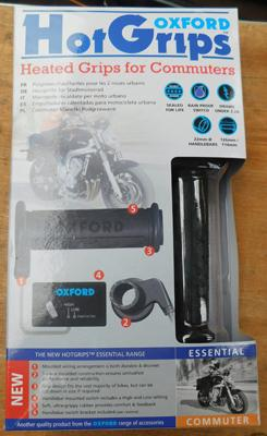 Oxford motorcycle Hot Grips OF771, new, unused in box