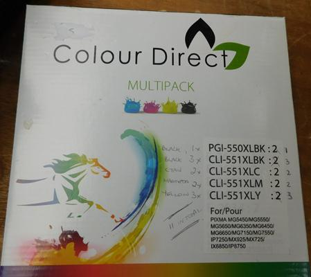Multi pack of Canon printer colour inks