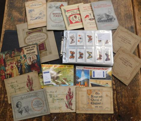 13 full sets of cards & 13 albums of cigarette & trade cards