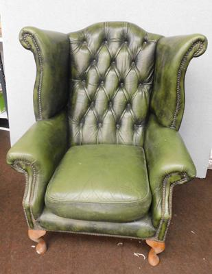 Racing Green Chesterfield chair