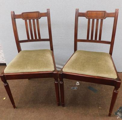 Pair of vintage reception/dining chairs
