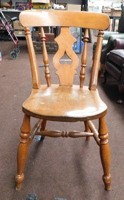 Solid yew wood decorative chair