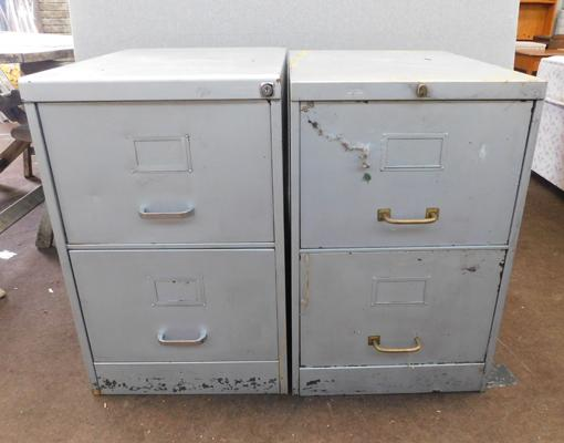 2x Two drawer filing cabinets