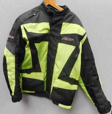 RST motorcycle jacket textile waterproof with body armour, quilted lining, size XXL