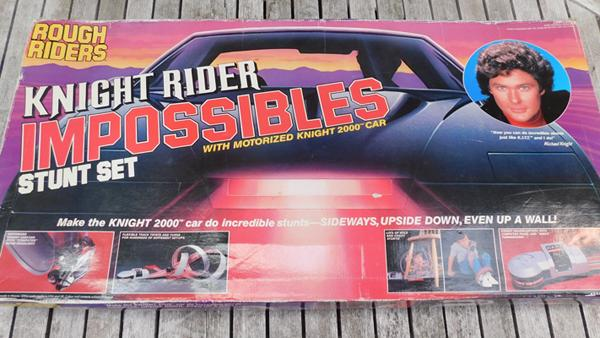 Boxed vintage Knight Rider stunt set - unchecked