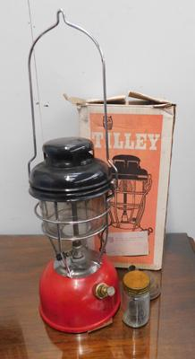 Vintage Tilley storm lamp with box