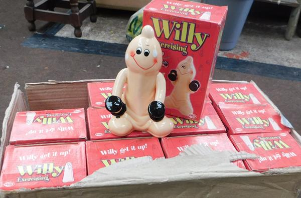 Box of novelty Willy money boxes