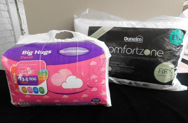 Slumberdown king size duvet, 13.5 Tog  + pillow - new - all proceeds to Bradford Hospitals Charity - Childrens Diabetes Ward