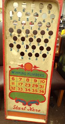 Large vintage wooden Circus game approx 22x54""