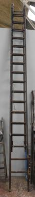 Large 2 piece wooden set of ladders