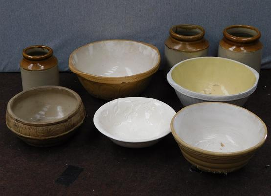 Selection of stoneware bowls & containers