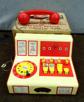 Vintage boxed telephone switchboard