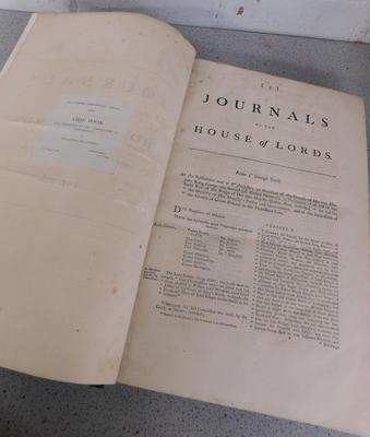 Journal of House of Lords 1760-1764 presentation late by William Neild 1884