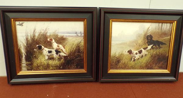Two framed Brookpace spaniel prints